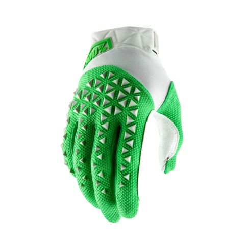 AIRMATIC 100% Glove Silver/Fluo Lime